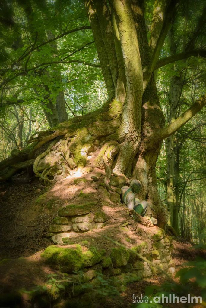 Fotostudio Ahlhelm Bodypainting Wald 5