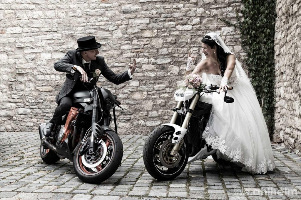 Fotostudio Ahlhelm Hochzeit Motorräder