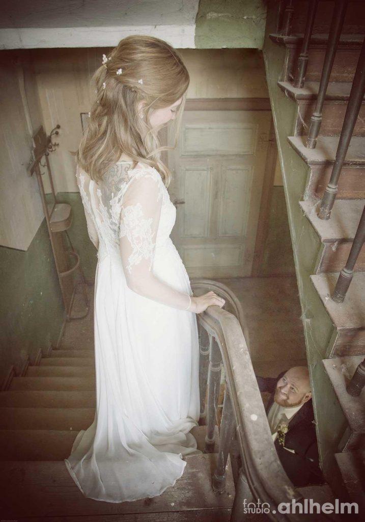 Fotostudio Ahlhelm Hochzeit on location altes Bauernhaus
